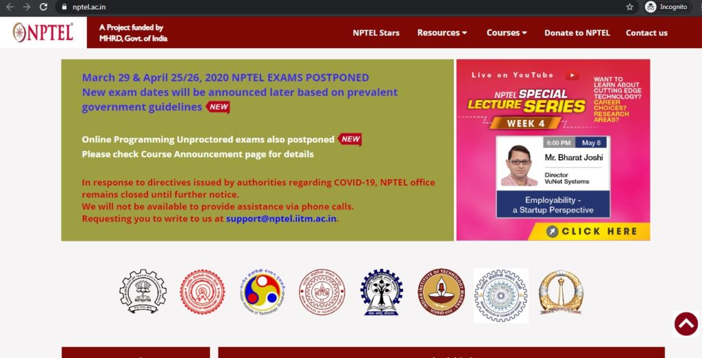 SWAYAM-NPTEL-Online-Cretification